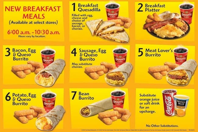 taco bell breakfast menu hours