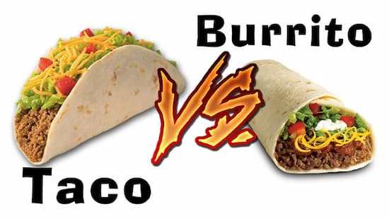 Difference Between Tacos and Burritos
