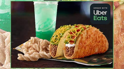 Taco Bell Now Available at Uber Eats
